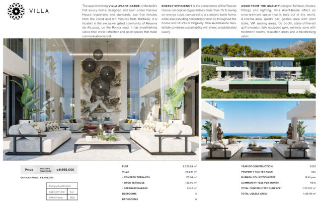 Current Offer For Project Villa Avant-Garde